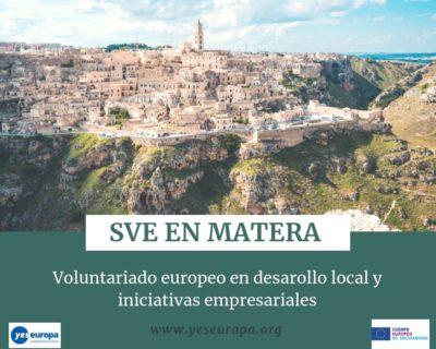 SVE en Matera (Italia) en desarollo local y iniciativas empresariales