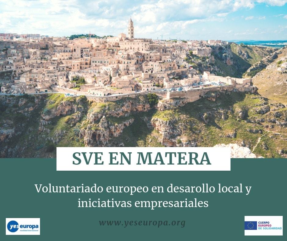 Sve en matera (italia) en desarollo local y iniciativas.