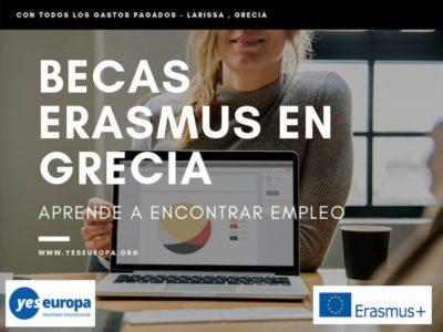 Becas Erasmus en Grecia para aprender a encontrar empleo