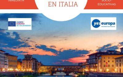 CES en Italia (Prato) de 6 meses en actividades socio-educativas (1 chico)