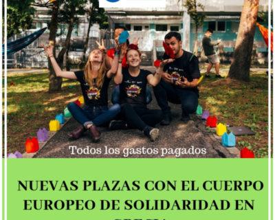 Ofertas Cuerpo Europeo Solidaridad Grecia