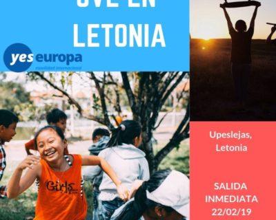 EVS en Letonia con niños en la creación de talleres