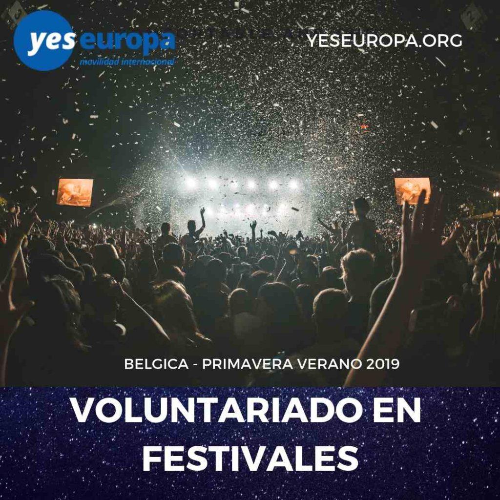 Voluntariado festivales bélgica