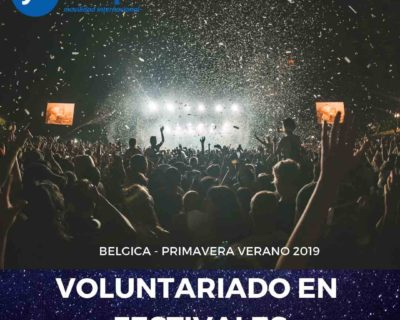 Voluntariado festivales Bélgica – Verano 2019