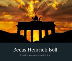 Becas Heinrich Böll para estudiar en Alemania (Berlín)