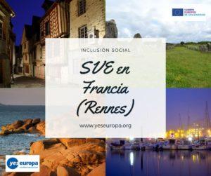 Hacer SVE Francia en inclusión social (Rennes)