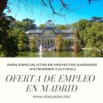 Oferta de Empleo para especialista en proyectos europeos