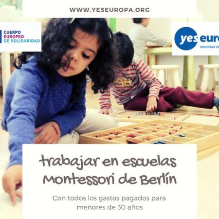 Trabajar en escuelas Montessori en Berlin (Alemania)