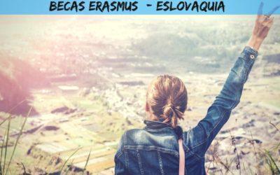 Becas Erasmus+ Eslovaquia en septiembre 2019