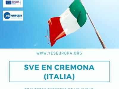 Voluntariado UE Italia en centro comics