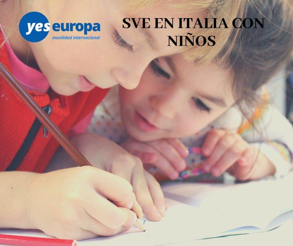 voluntariado con niños en Italia