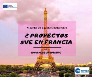 2 Proyectos SVE en Francia (a partir de agosto/septiembre)