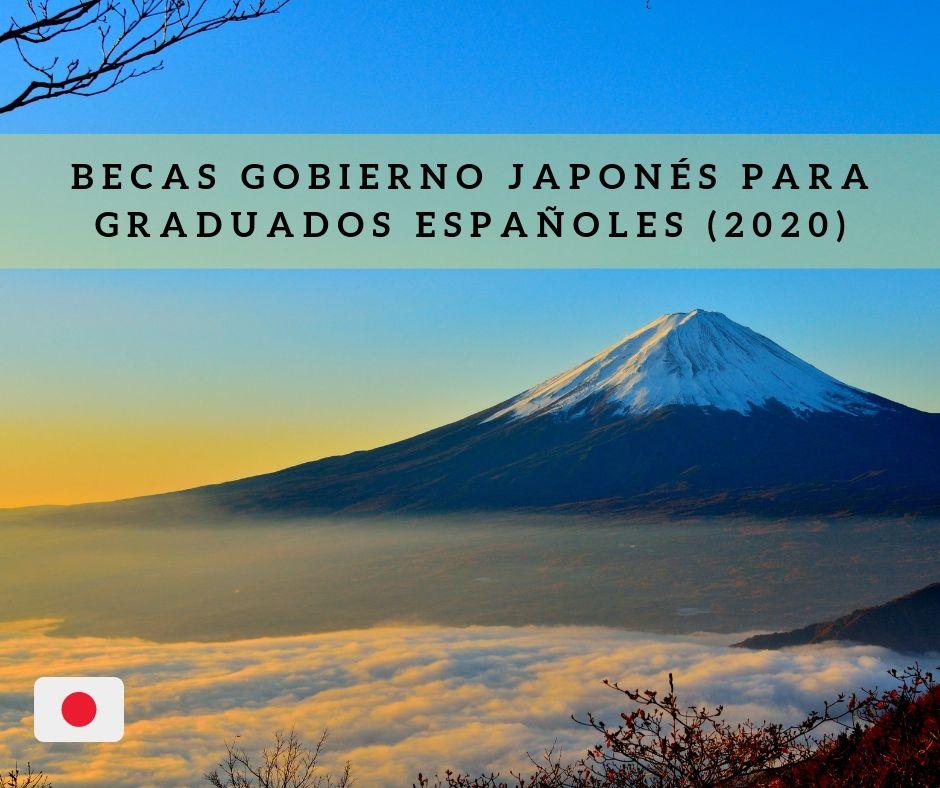 Becas Gobierno Japonés para graduados españoles (2020)