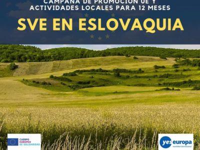 SVE en Eslovaquia de 12 meses (campaña de promoción UE y actividades locales)