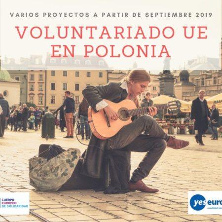 Voluntariado UE Polonia en varios proyectos (Septiembre 2019)