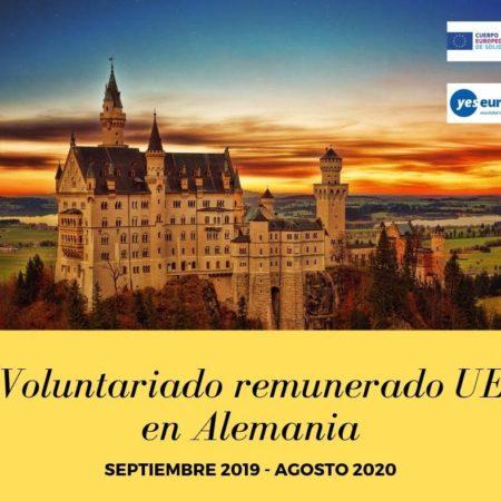 Voluntariado remunerado UE en Alemania (trabajo juvenil internacional)