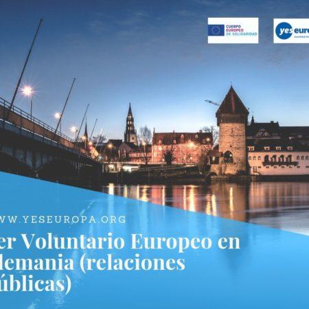 Ser Voluntario Europeo en Alemania (relaciones públicas)