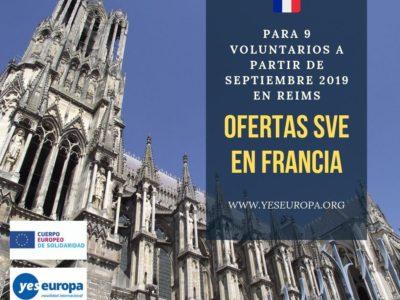 Voluntariado UE Francia 3 proyectos sve