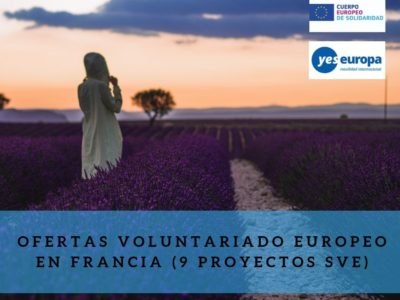 Ofertas Voluntariado Europeo en Francia (Le Creneau) para 1 chica