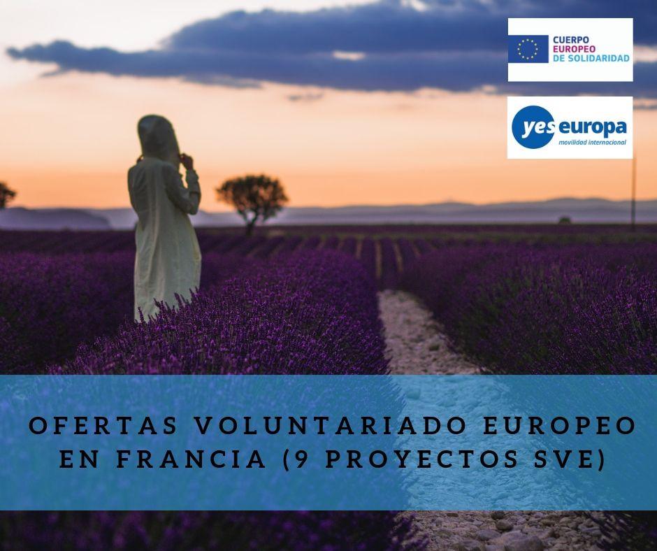 Ofertas Voluntariado Europeo en Francia (9 proyectos SVE)