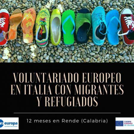 Voluntariado europeo Italia con migrantes y refugiados