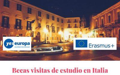 Becas Visitas estudio Erasmus en Italia