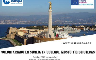 Voluntariado en Sicilia en colegio, galería arte y bibliotecas (preferiblemente chicas)