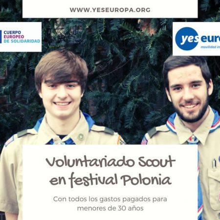 Voluntariado Scout para festival de Polonia